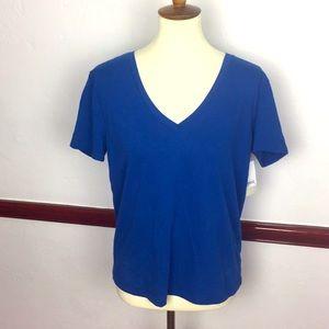 BP NWT BLUE V NECK SHIRT SZ M